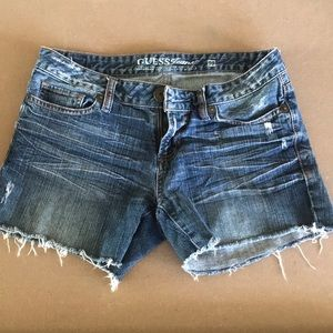 Guess jeans size 29 distressed shorts